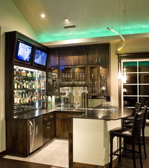 Houzz, DC Fine Homes & Interiors, 'Webfoots' Sports Bar