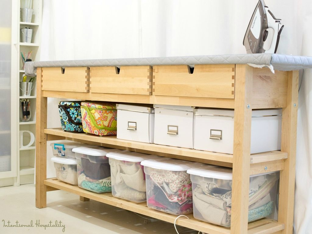 The Most Creative Craft Room Ikea Hacks Ever The Cottage Market Sewing Room Furniture Sewing Room Storage Sewing Room Organization