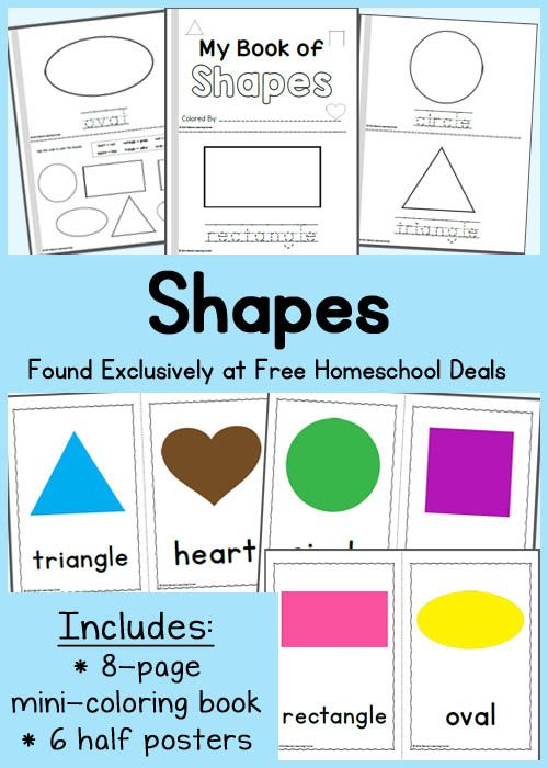 Free Instant Download My Book Of Shapes And Coloring Posters Shapes Kindergarten Shapes Preschool Teaching Shapes Shape book for preschool