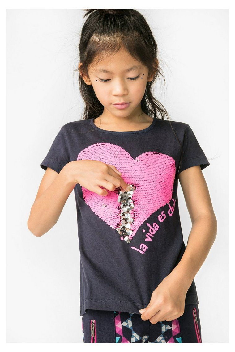 Girls t shirt with reversible sequins b for Girls sequin t shirt