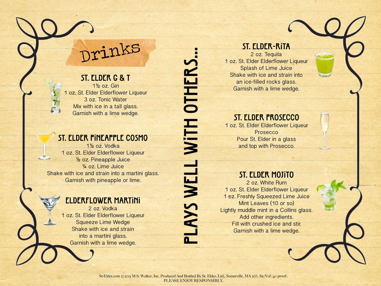 Drinks St Elder Gin Garnish Drinks Tonic Water