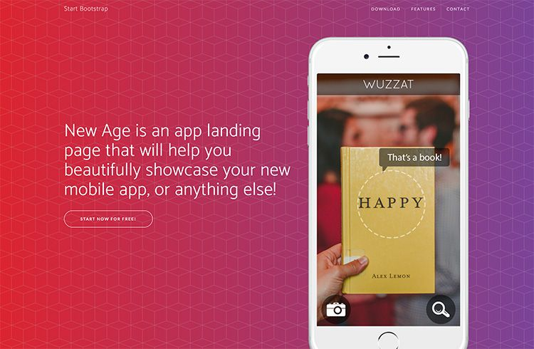 Free Bootstrap App Landing Page Theme Start Bootstrap