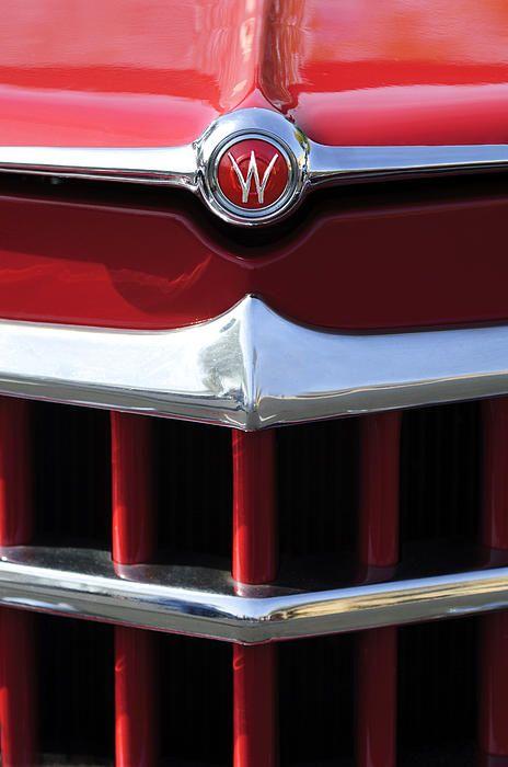 1950 Willys Overland Jeepster Hood Emblem Photograph By Jill Reger