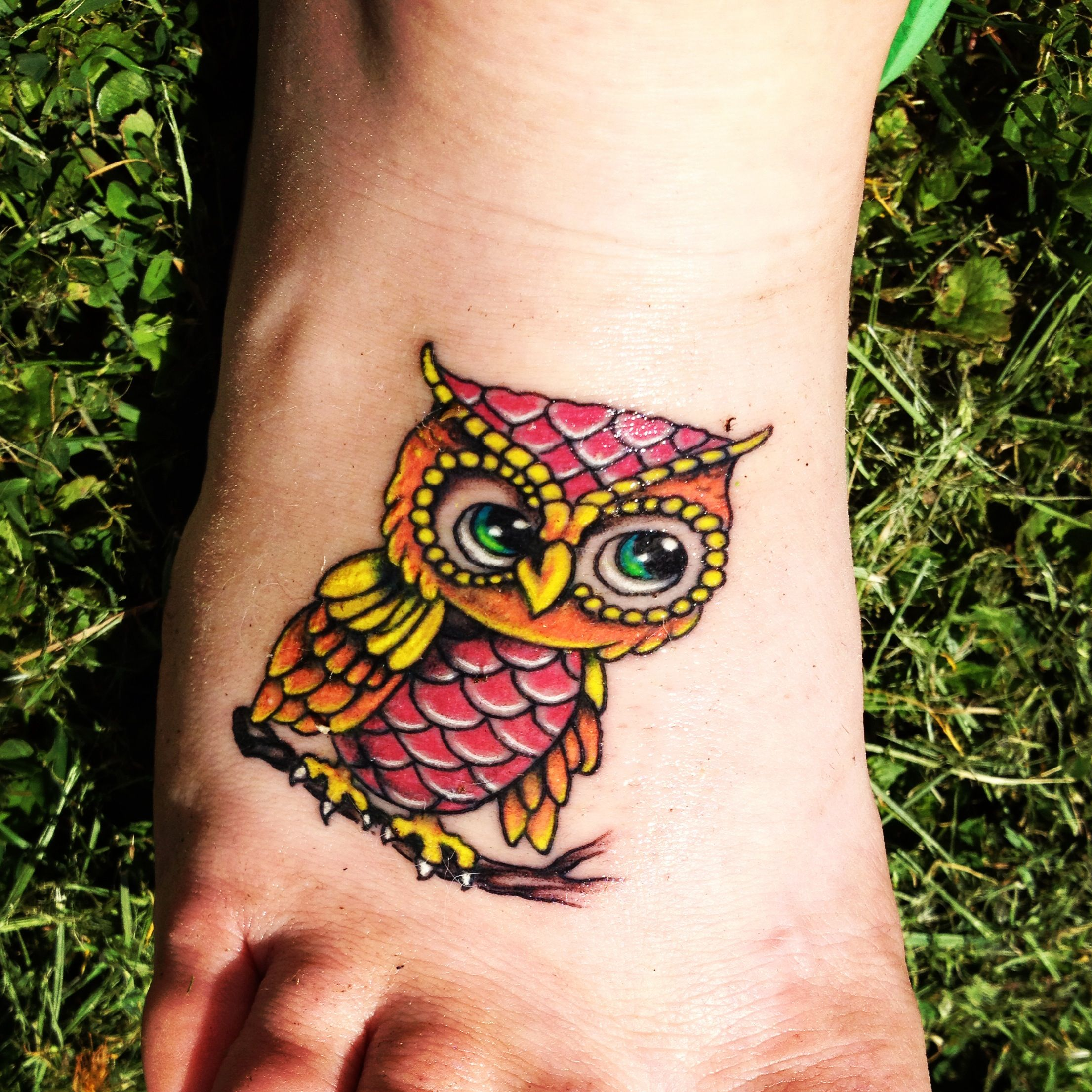 Owl Tattoo Baby Owl Tattoos Colorful Owl Tattoo Owl Tattoo