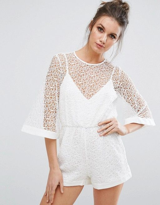 0743a3047c Discover Fashion Online. Discover Fashion Online White Lace Romper ...