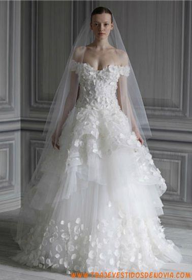 P/V Petal Vestido de Novia Monique Lhuillier | vestidos de novia ...