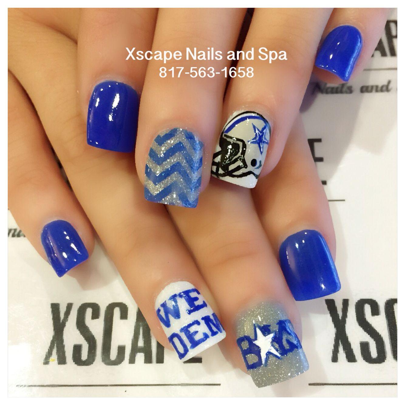 Dallas Cowboys nails … | Nail art designs | Pinterest