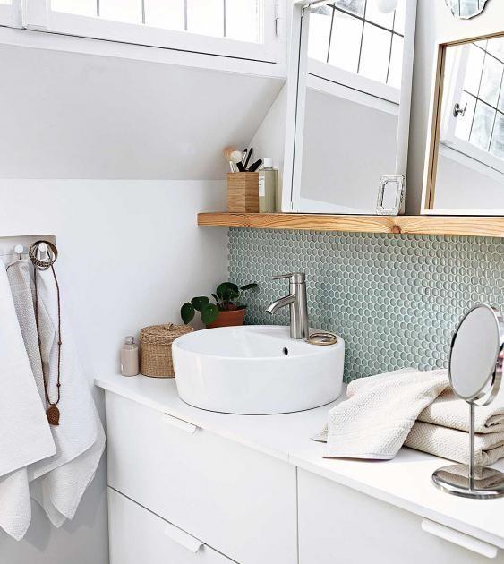 tricks für mini-badezimmer: zusammen, aber getrennt: dusche und, Hause ideen