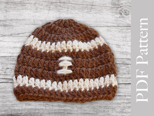 Crochet Baby Football Hat Pattern Pdf Pattern Crocheted Baby Boy