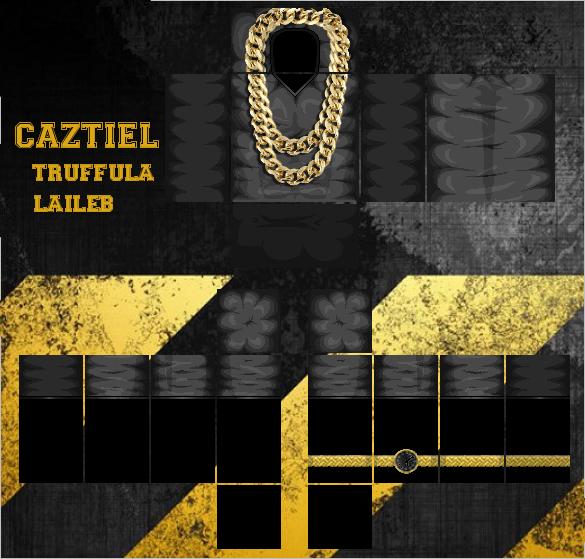 roblox black t  gold chain  gold watch  tat