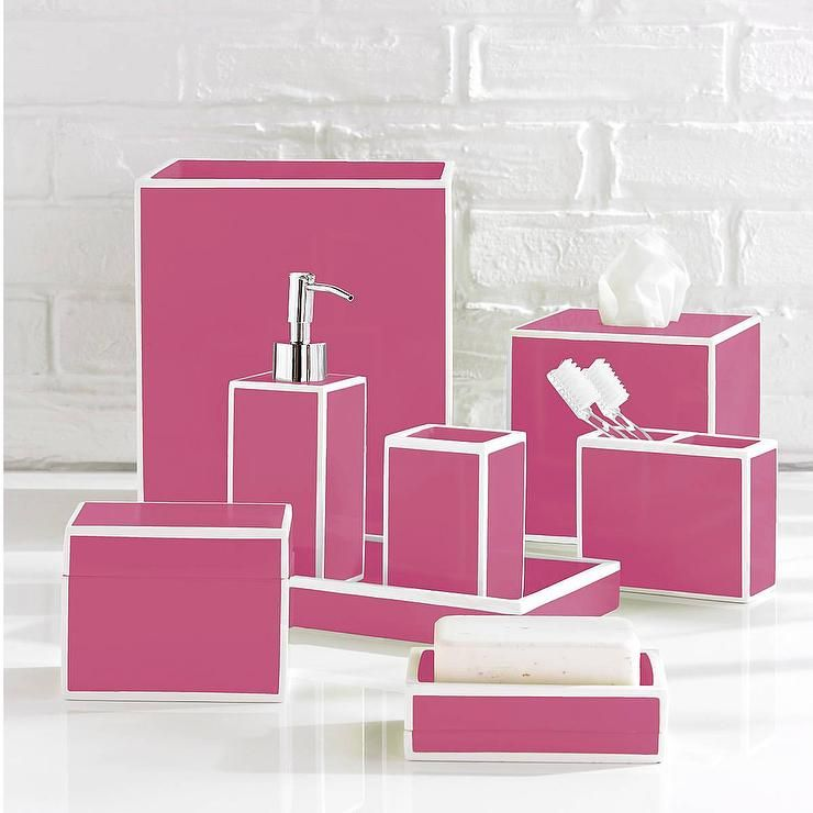 Superbe Luxury Pink Bath Accessory Sets