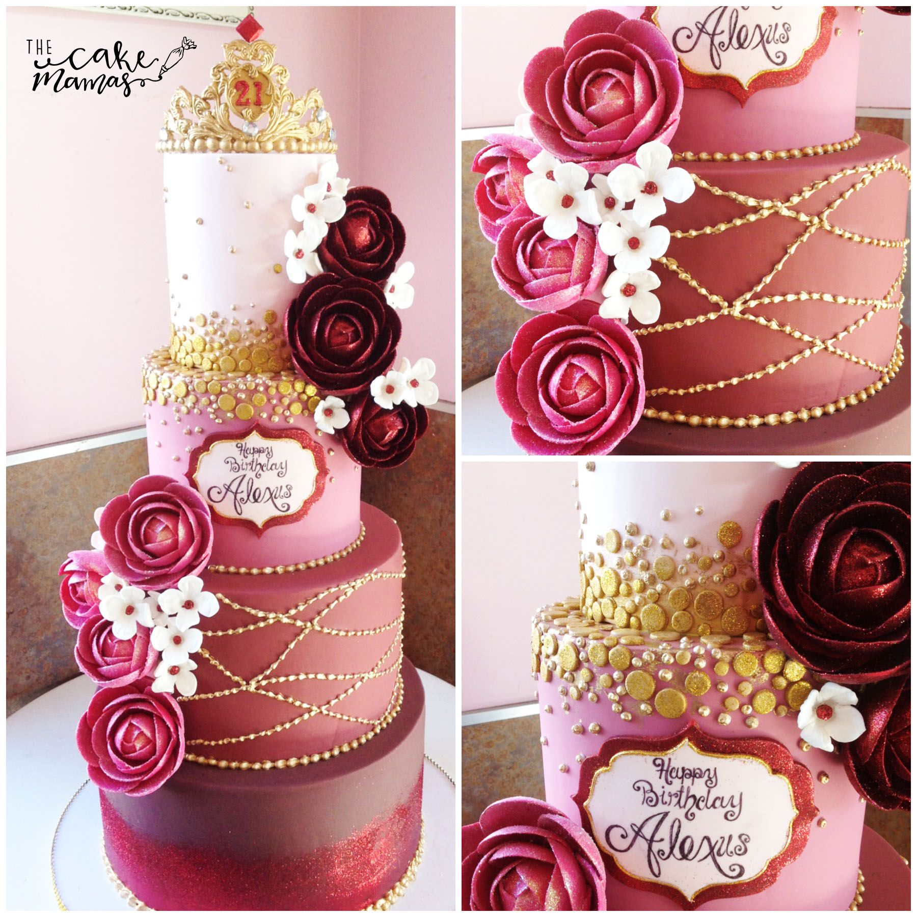 21st Birthday Cake With Floral Detail Call Or Email To Order Your