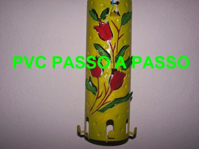 PVC PASSO A PASSO: Porta chaves floral
