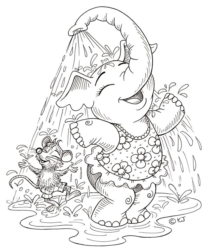 Elephant coloring page | Coloring pages and Printables | Pinterest ...