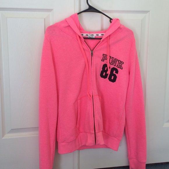 VS PINK Zip Up Hoodie zip up PINK Victoria's Secret Tops Sweatshirts & Hoodies