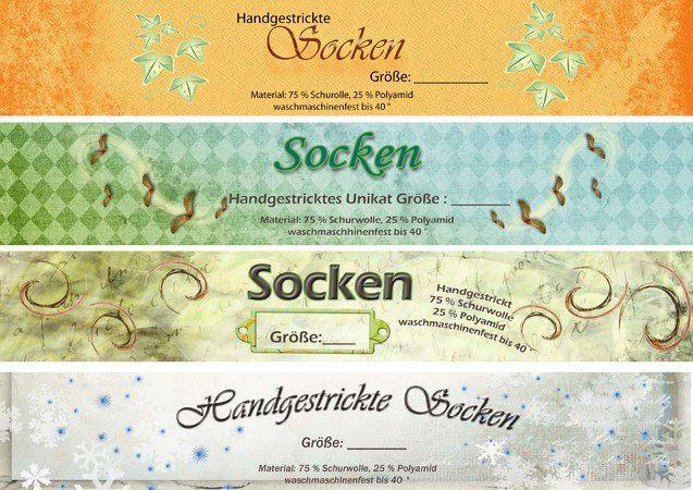 Photo of Banderole / Verpackung für selbstgestrickte Socken * Herbst *