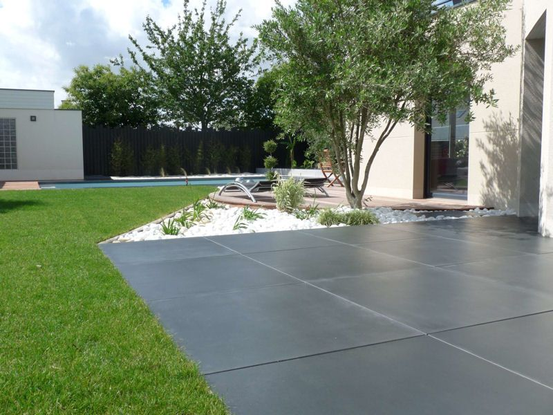 Carrelages Gazon Zen Composite Exterieur Terraced Backyard
