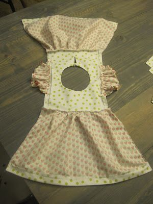 It is so much easier to put a dress together like this and then sew up both sides. This Big Oak Tree: Sweet as a Berry Little Girl Dress {tutorial}. #dolldresspatterns