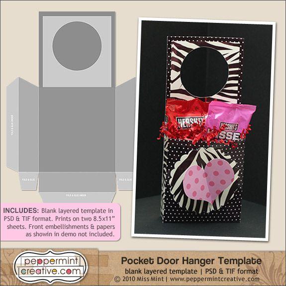 Love Pocket Door Hanger Template - add papers\/design and print - door hanger design template