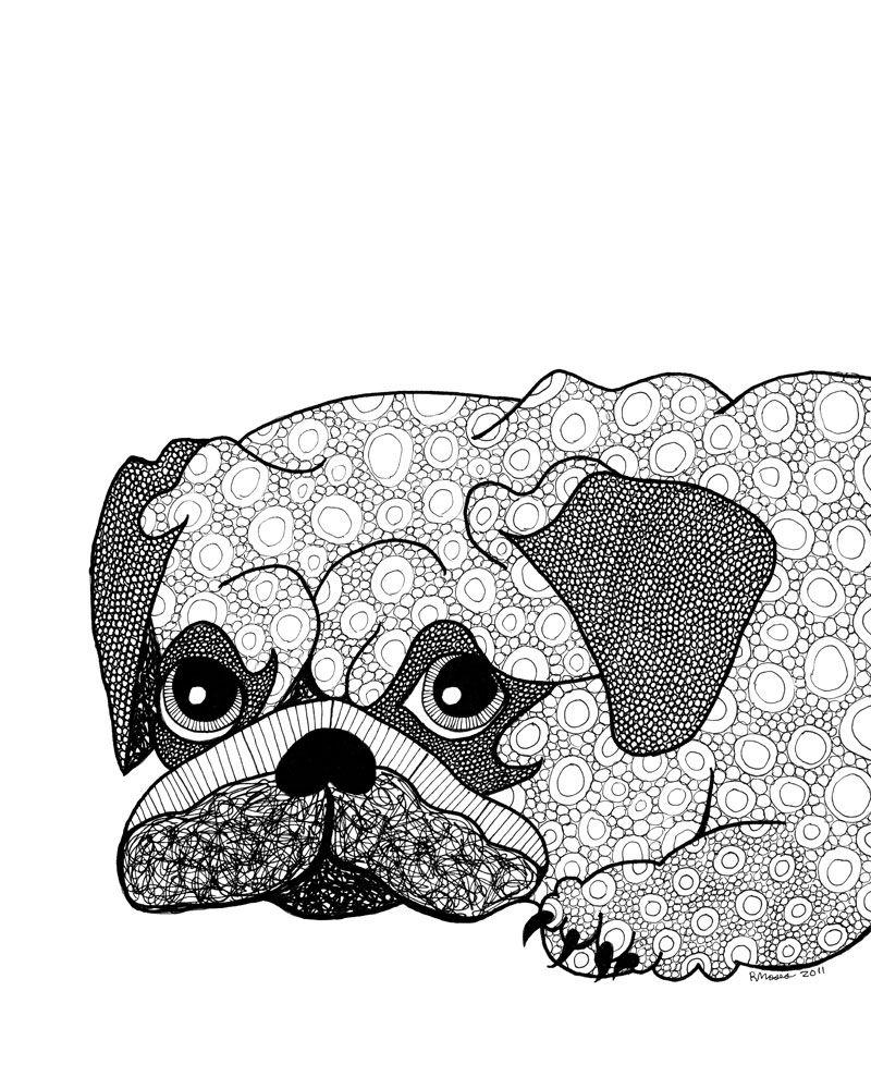 rmosespugbw 800×1000 pixels  hund zeichnungen