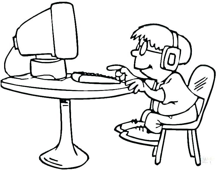 Computer Coloring Pages Best Coloring Pages For Kids Coloring Pages For Kids Coloring Pages Helping Kids