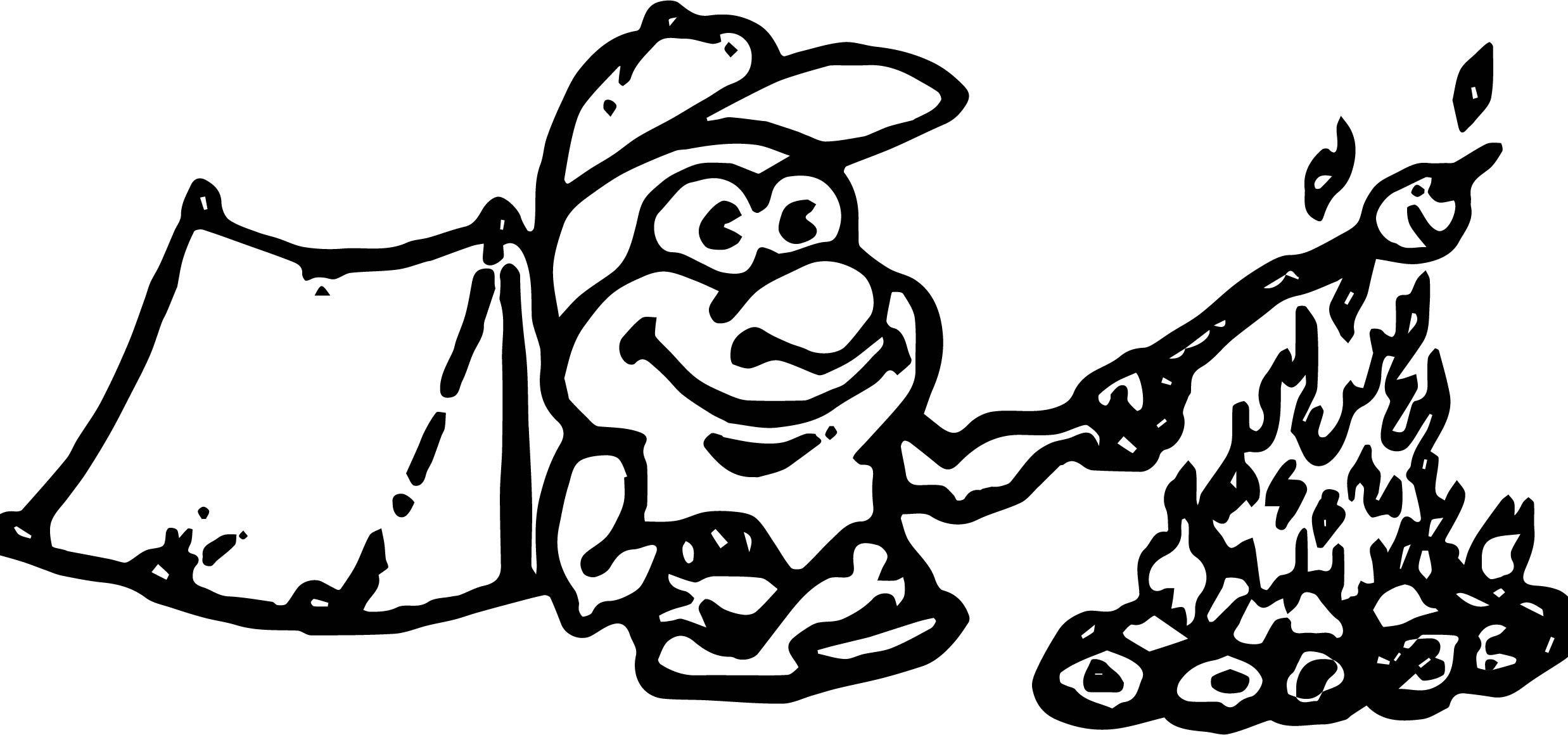 Nice Camping Cartoon Boy Coloring Page