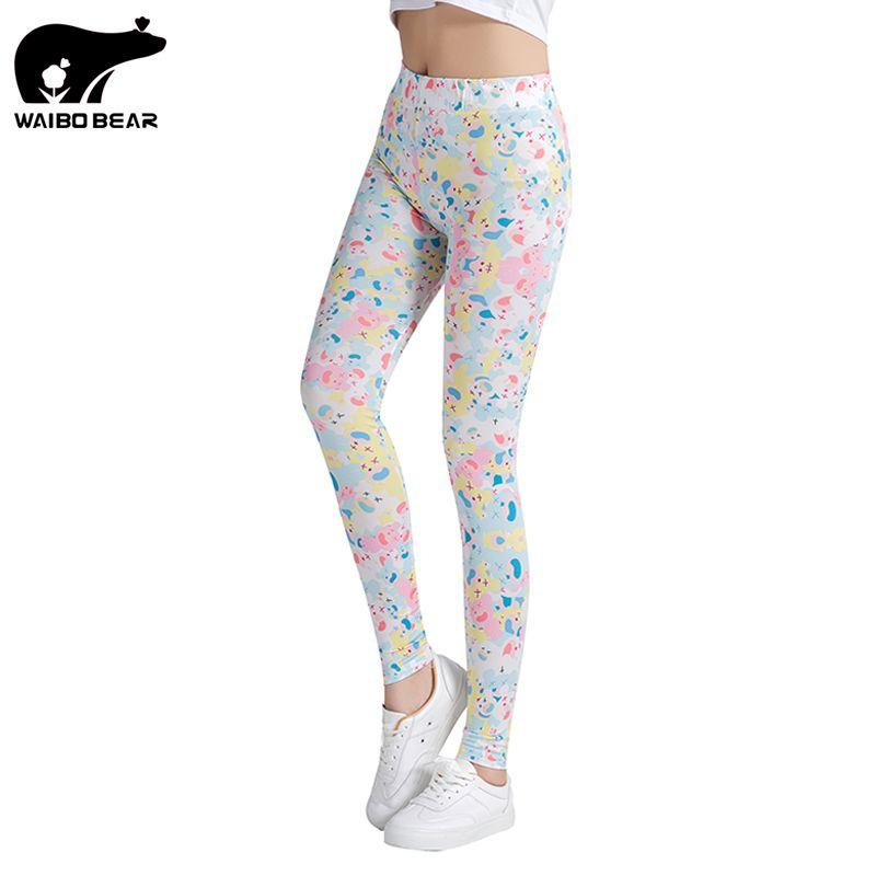WAIBO BEAR  Brand Russian Style  Printing Leggings Punk Women Legging Stretchy Trousers Casual Pants Womens Leggings #Affiliate