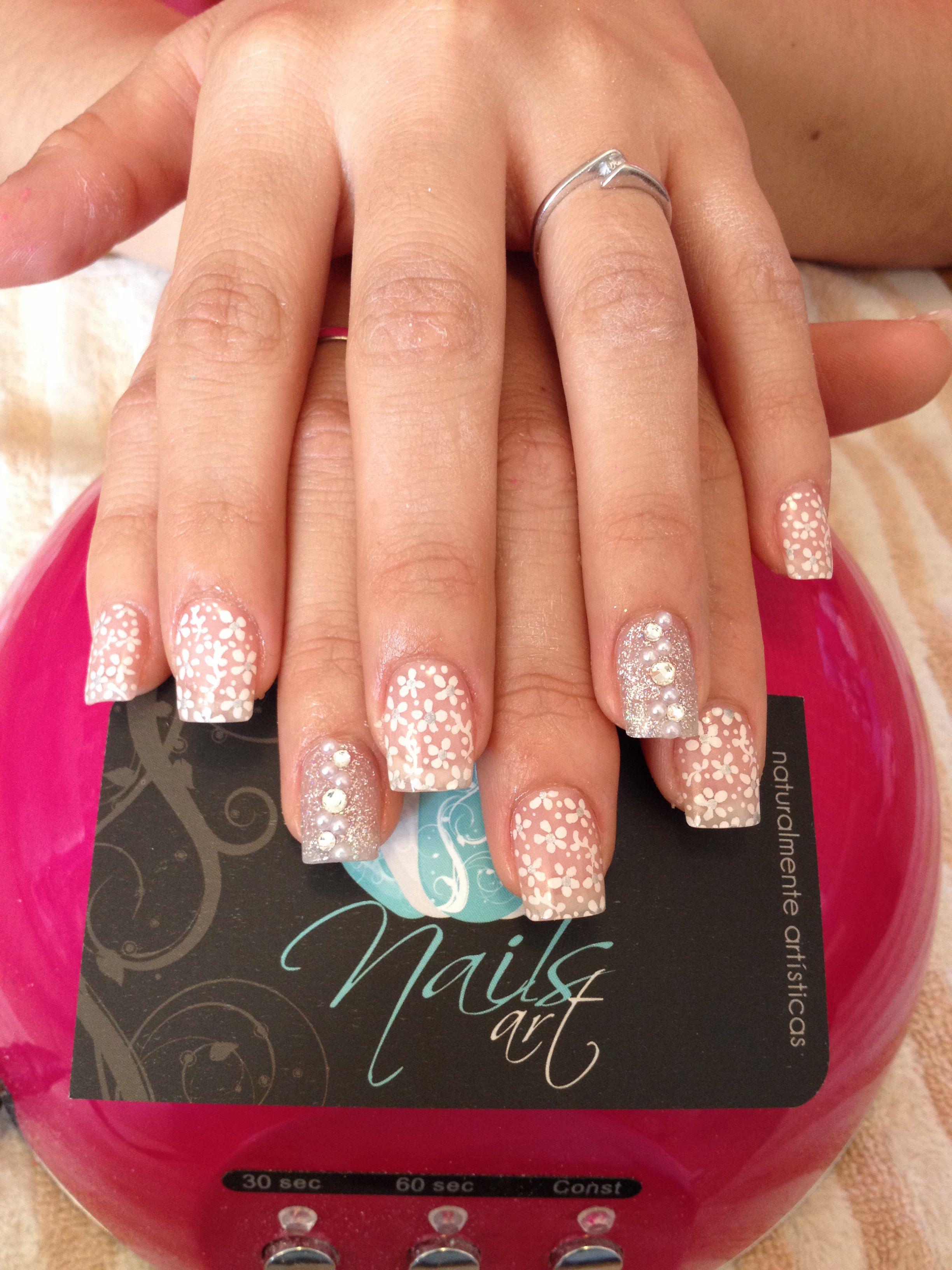 Nails art, acrylic nails, wedding nails https://www.youtube.com ...