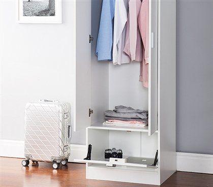 Yak About It Locking Safe Wardrobe Closet   White //Price: $173.98 U0026 FREE