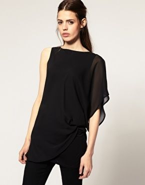 ASOS Top with Chiffon Layer - StyleSays