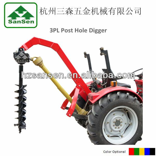 Tractor 3point Pto Post hole digger with different size