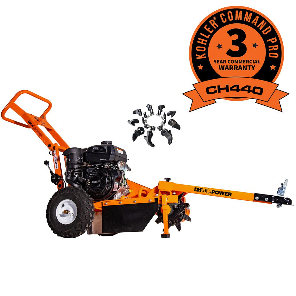Detail K2 12 in  14 HP Gas Powered Commercial Stump Grinder