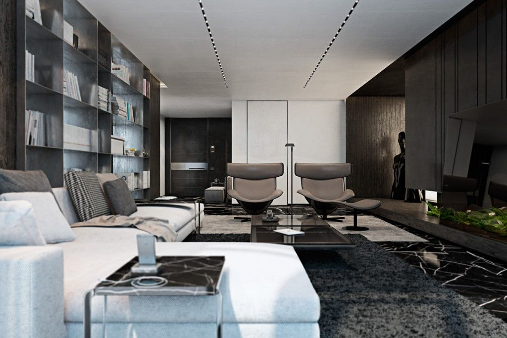 Three Luxurious Apartments With Dark Modern Interiors Apartment Interior Design Apartment Interior Apartment Design