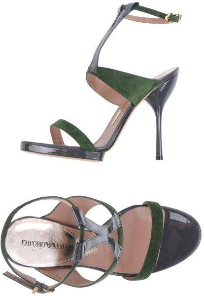 d2db65f84 Women s Green Sandals. Emporio ArmaniGreen SandalsMilitary Green. Sandals -  Lyst