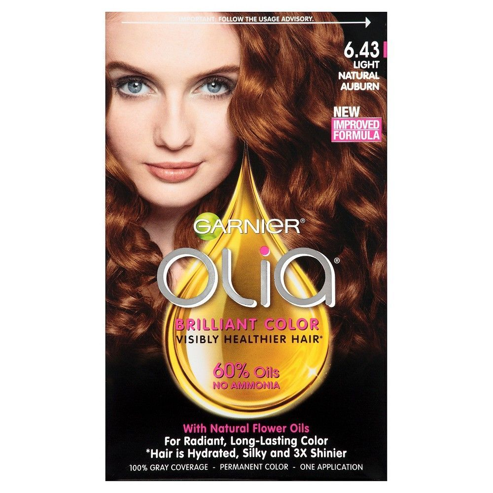 Garnier Olia Brilliant Color 6 43 Light Natural Auburn Permanent