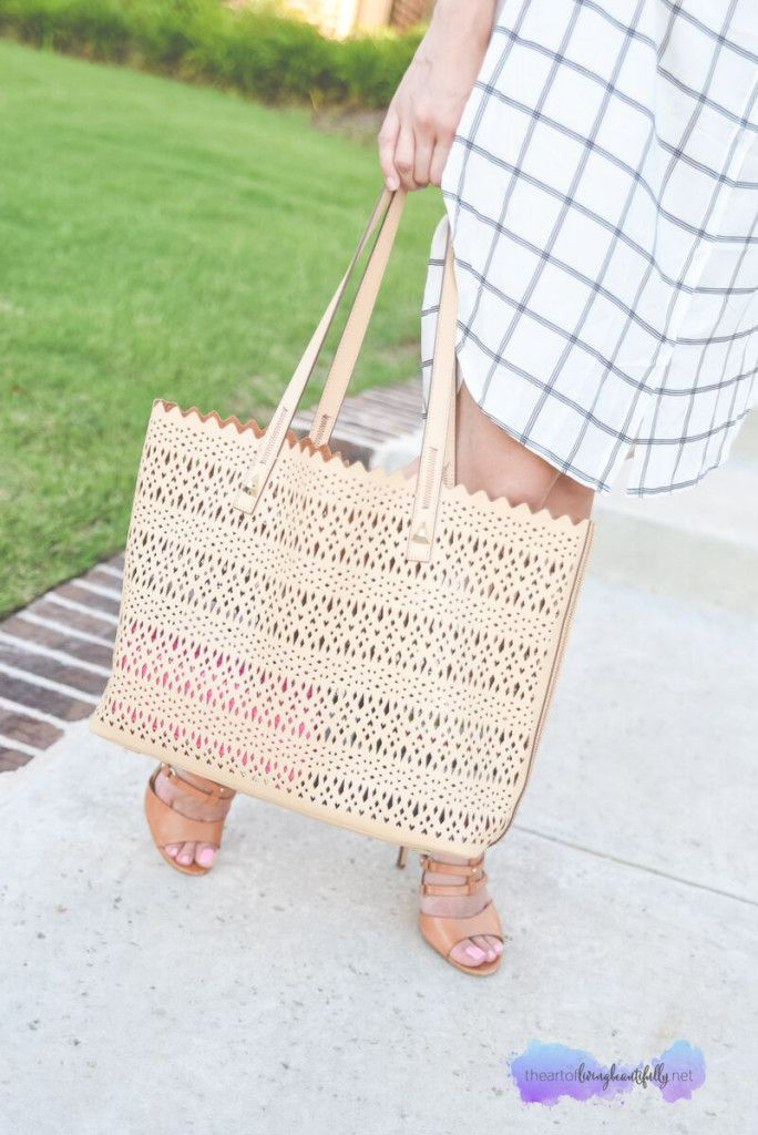 navy and white, summer fashion, summer dress, office style, avalon tote, style wheel