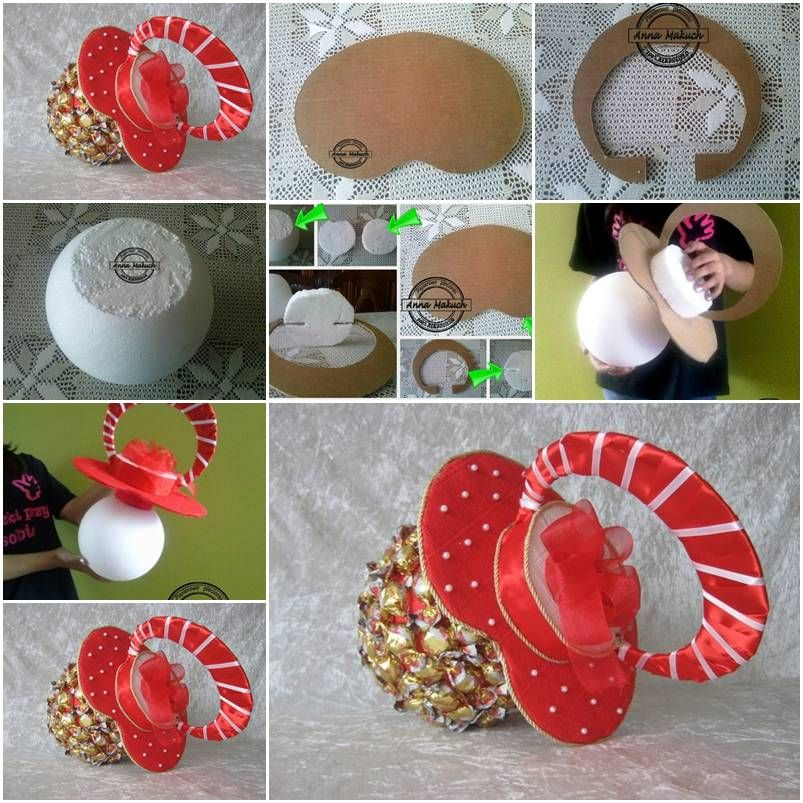 How to make candy pacifier for baby shower invitations step by step how to make candy pacifier for baby shower invitations step by step diy tutorial instructions solutioingenieria Images