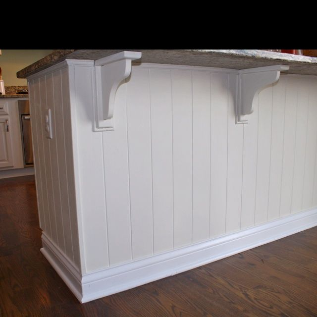 Beadboard Under The Kitchen Counter For The Home Pinterest Kitchen Island Makeover Beadboard Kitchen Countertop Decor