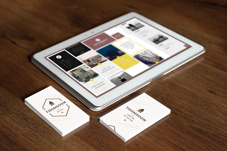 9 business card tablet mockup vol 2 mockups pinterest 9 business card tablet mockup vol 2 wajeb Choice Image