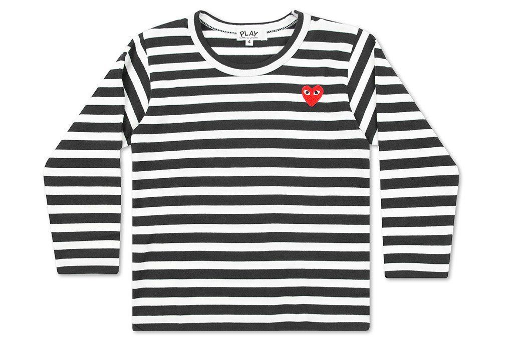 a6db68a09f Comme des Garcons Play Kid's Striped Long Sleeve T-Shirt - Black/White