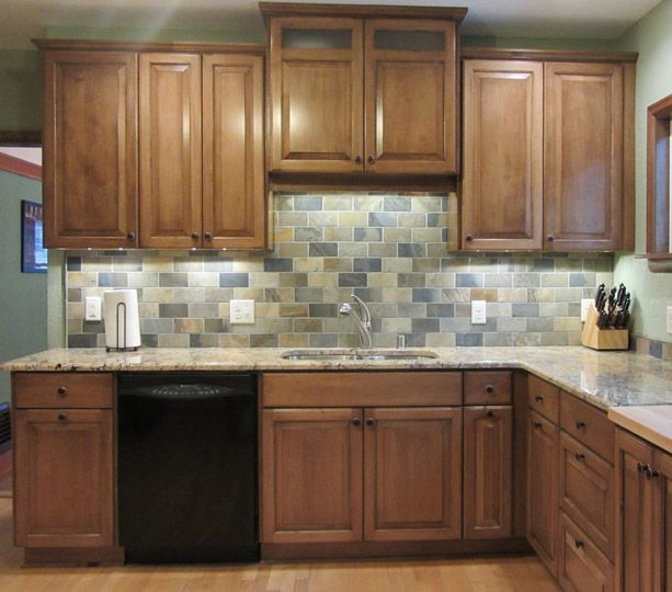 Kitchen Cabinets Makers: Multi-colored Backsplash From Silver 2013 WRA Award