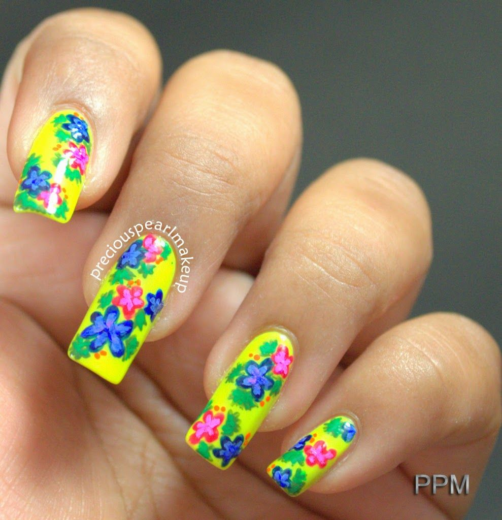 Flowers Blog Pinterest Flower Nail Art Flower Nails And Spring