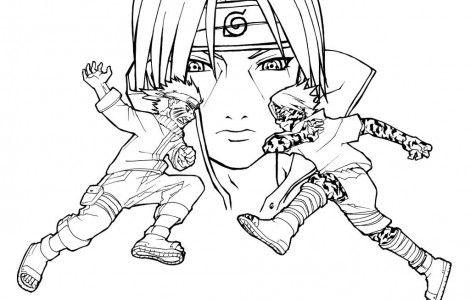 Sasuke Vs Itachi Coloring Page Chibi Coloring Pages Naruto Vs Sasuke Cartoon Coloring Pages