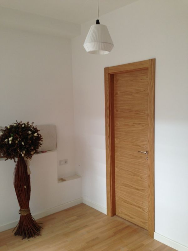 Modelo l60 roble puertas madera natural pinterest - Puertas de roble ...