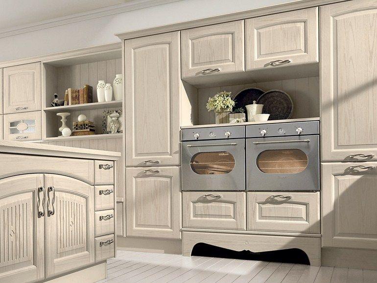 Cucina in legno con isola VERONICA | Cucina by Cucine Lube | mobili ...