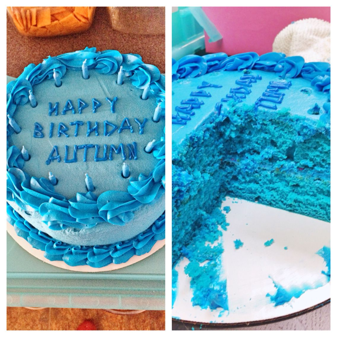 A Blue Birthday Cake To Make Percy Jackson Jealous Blue Velvet