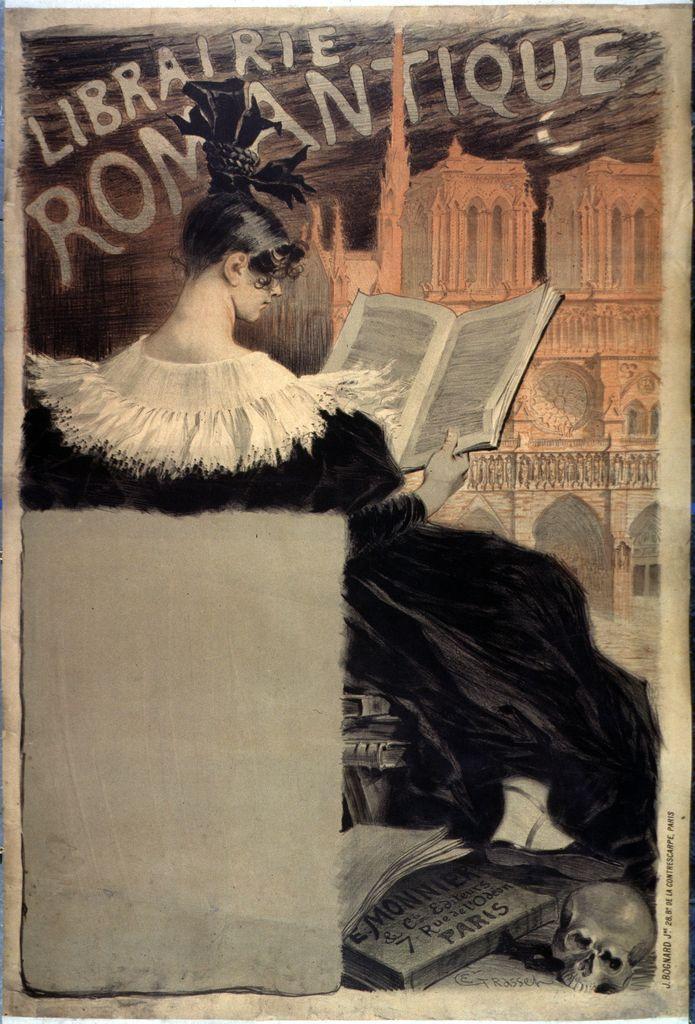Librairie romantique, Eugène Grasset, 1887 #Affiche