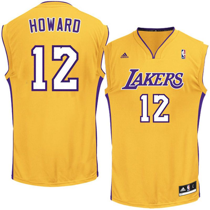 the best attitude e476d fecdd Dwight Howard Los Angeles Lakers adidas Replica Home Jersey ...