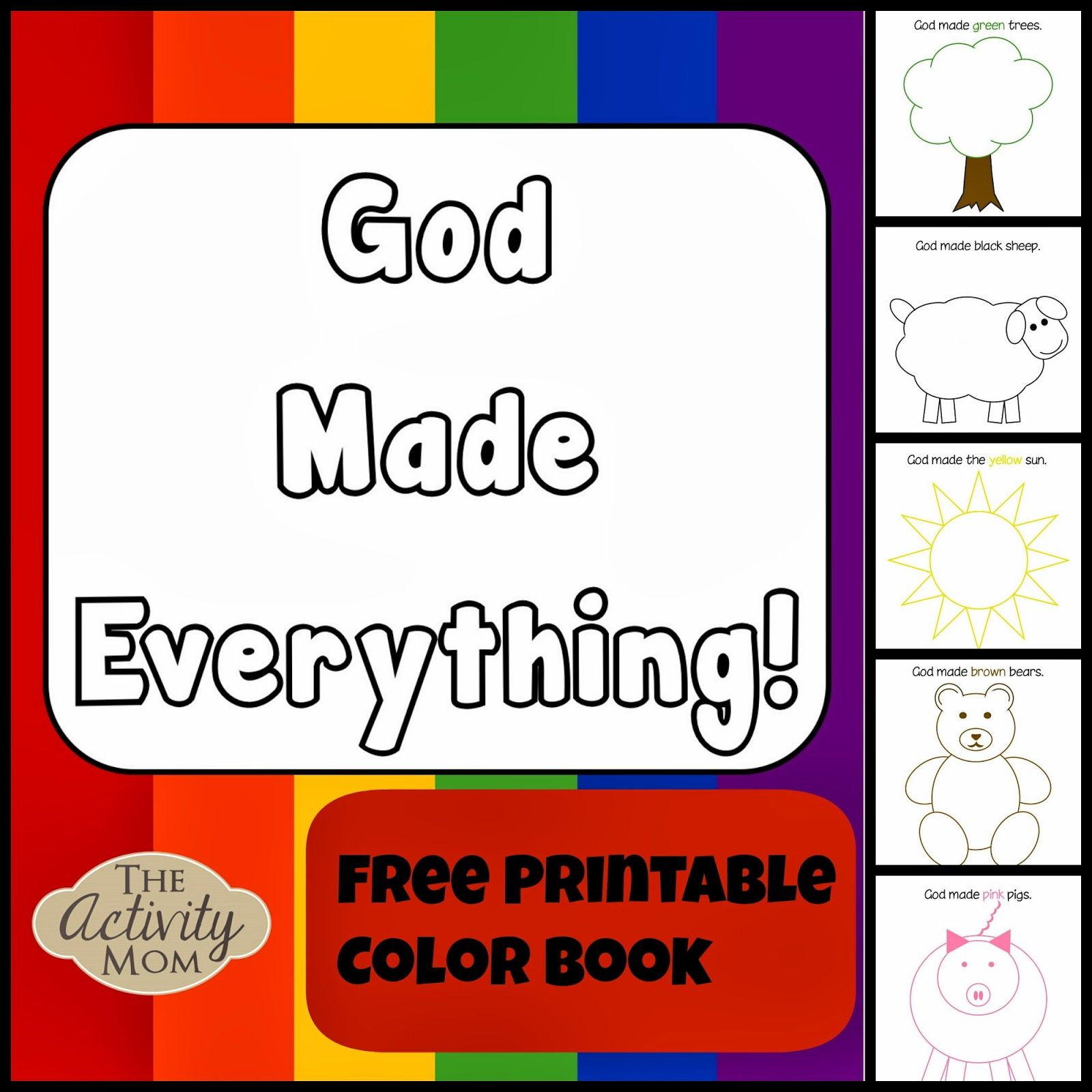 God Made Everything Colors Book Printable