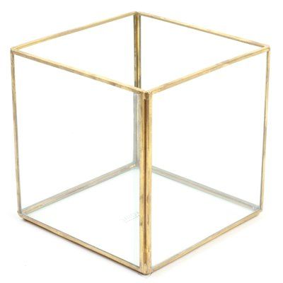 Koyal Wholesale Cube Geometric Table Glass Terrarium Products